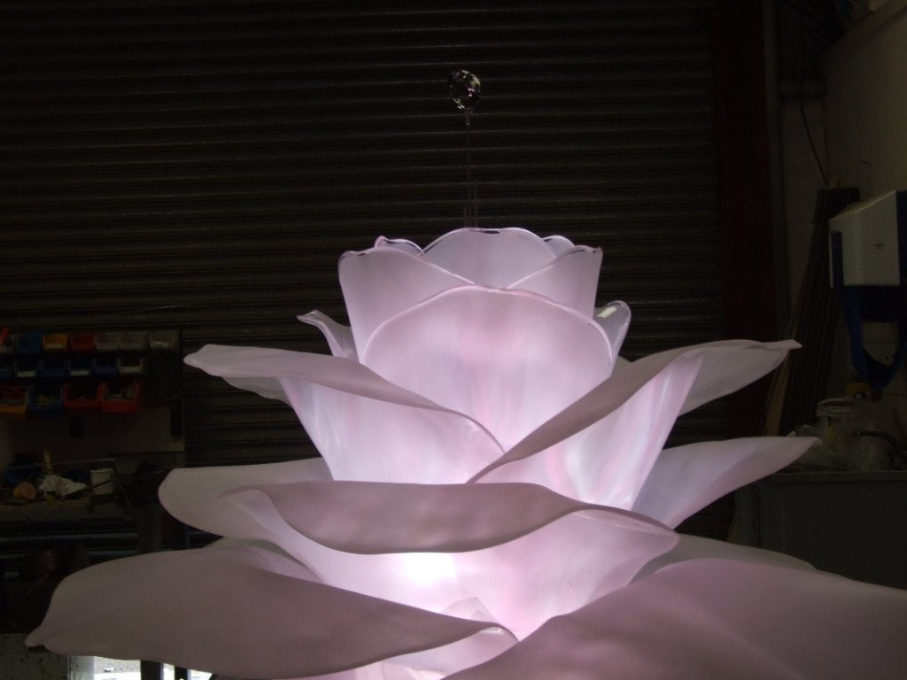 Giant Mechanical Rose Prop