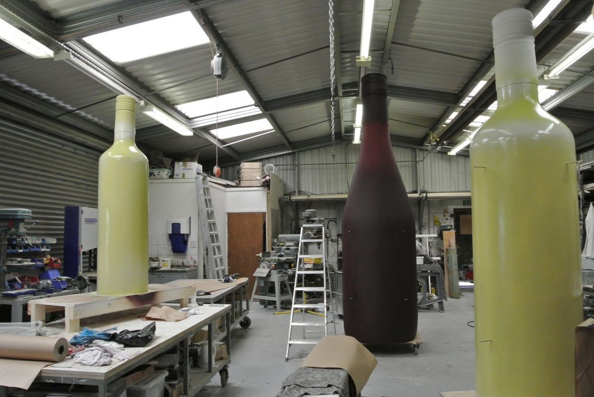 Making the Giant Wine Bottle Props
