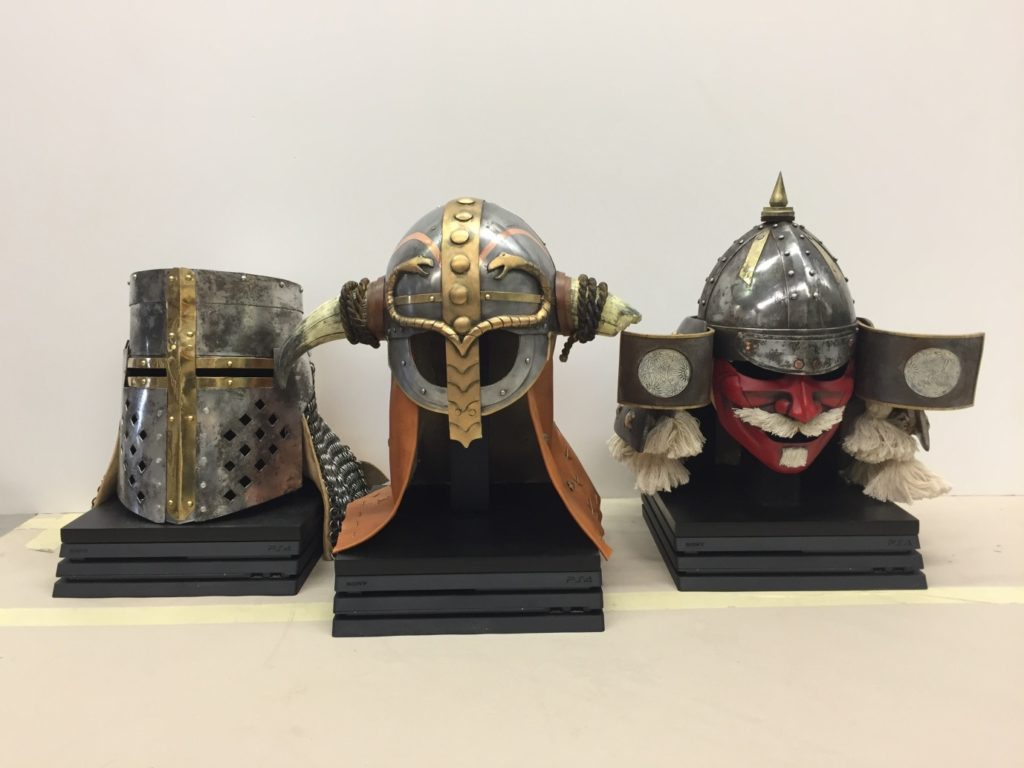 Replica helmets for computer game