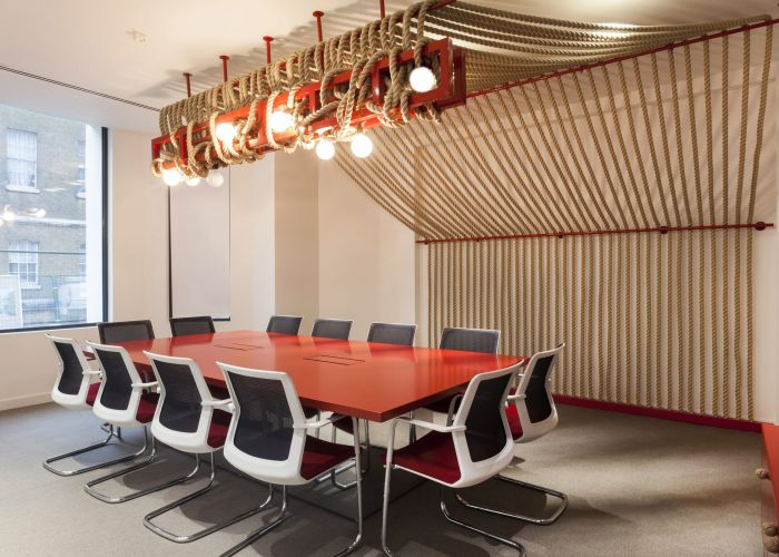 Bespoke rope lighting for office