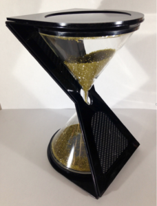 Diamond grit hourglass