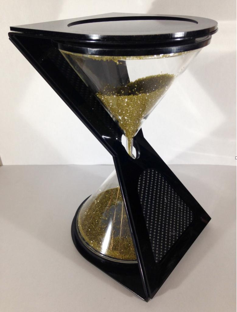 Diamond grit hourglass