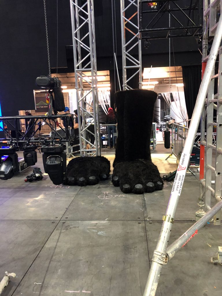 giant gorilla prop feet