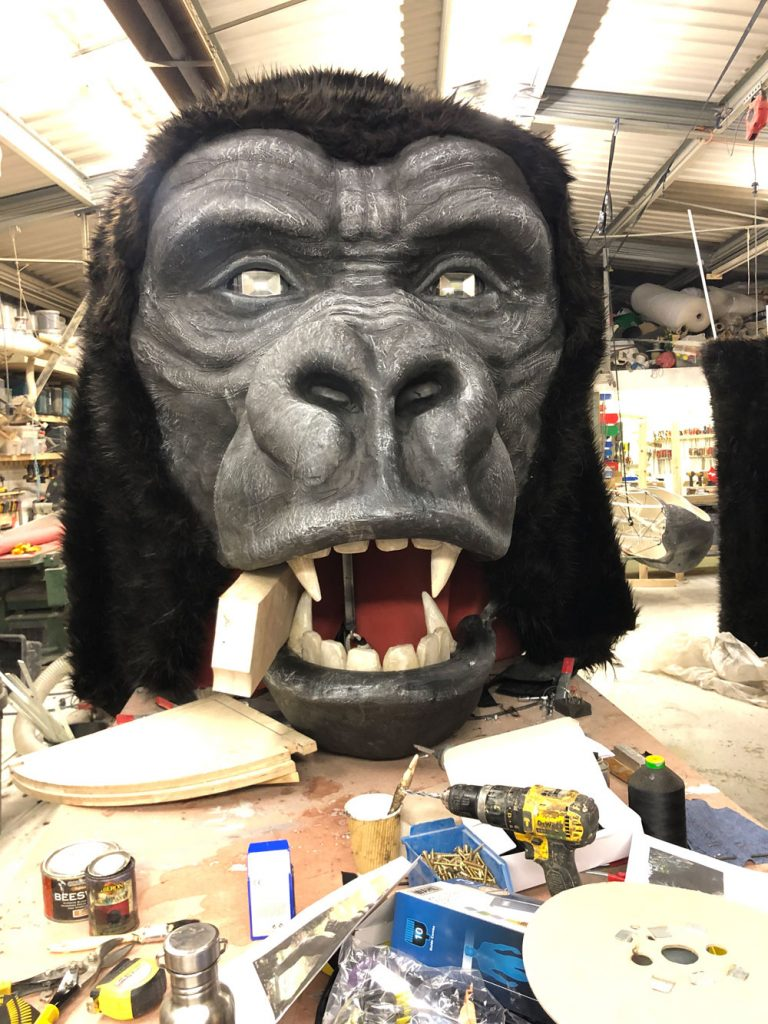 burna boy gorilla giant prop