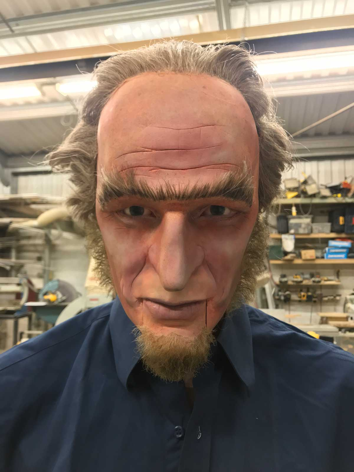 Model Head Prop, Count Olaf for Netflix A Series of Unfortunate Events
